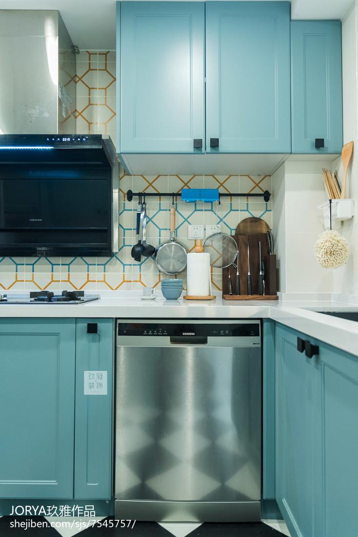 卡座餐厅加开放式厨房装修效果图展示展示