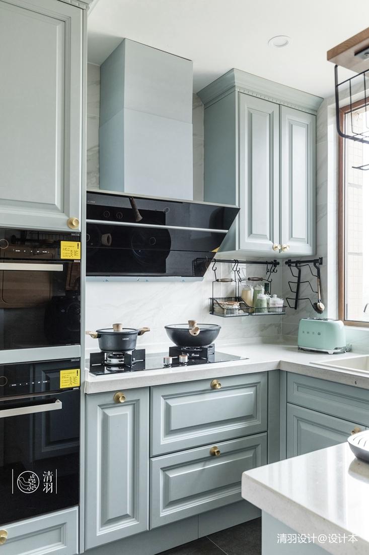 宁波装修公司排行榜靠前公司推荐精致99平混搭三居厨房实景图展示