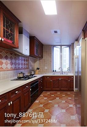 热门美式二居厨房装修实景图片大