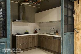 精美104平方三居厨房混搭装修图片