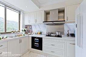 欧式厨房样板房效果图