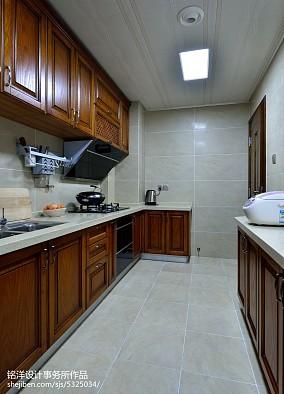 现代中式厨房吊顶效果图