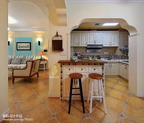 大气92平混搭三居厨房装修图