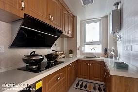 热门93平米三居厨房美式欣赏图片