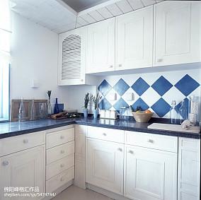 面积112平复式厨房地中海效果图片