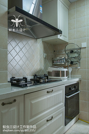 2020 98平米三居厨房美式装修设计