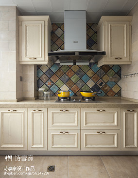 美式风格厨房橱柜装修