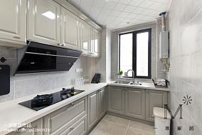 优雅77平美式三居厨房图片大全