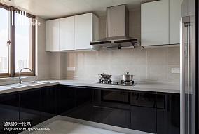 精美103平米三居厨房现代装饰图片