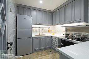 美式风格灰色系厨房设计