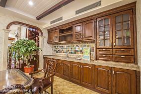 热门面积129平别墅厨房美式效果图