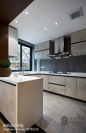 面积133平复式厨房中式效果图片欣