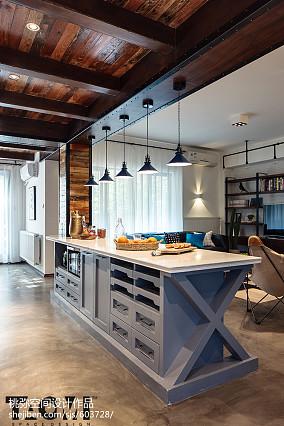 精美面积101平混搭三居厨房装修图