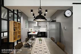 loft风格餐厅厨房一体设计图