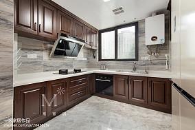 165m²新中式厨房设计图