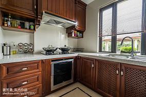精美面积132平别墅厨房中式装饰图