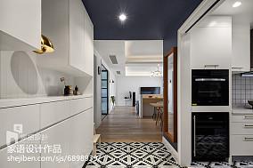 精美98平米三居厨房北欧效果图片