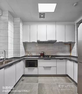 华丽116平现代三居厨房实景图