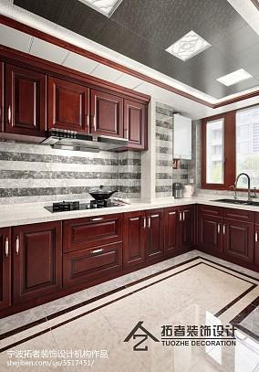 精选面积123平中式四居厨房装修欣