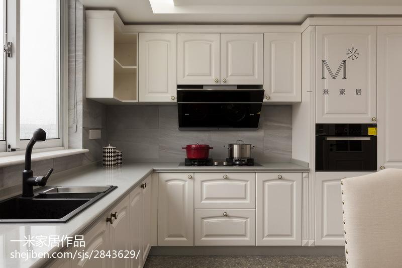 成都装修公司前十强精选优雅121平美式四居厨房效果图欣赏展示