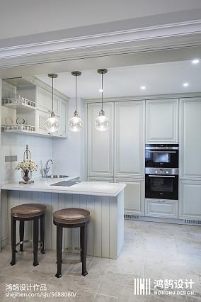 2020精选103平米三居厨房美式实景