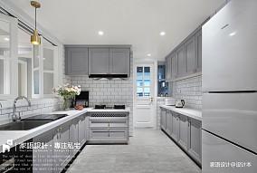 温馨104平美式三居厨房设计效果图