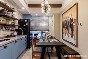 休闲主义潮流混搭二居81-100m²厨房