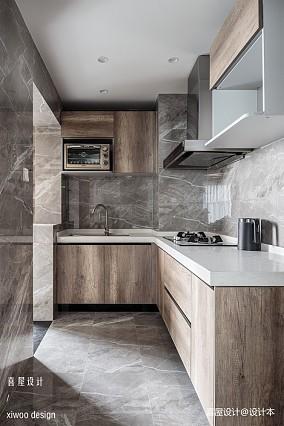 现代简约三居101-120m²厨房设计图