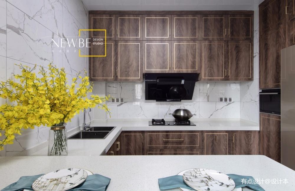 中式现代四居及以上201-500m²厨房展示