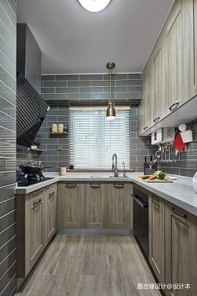 美式经典三居81-100m²厨房