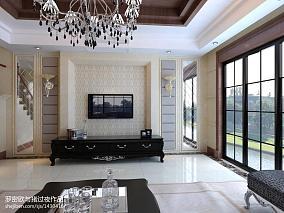 135平别墅客厅新古典效果图片