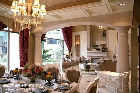 121平别墅餐厅美式实景图片欣赏