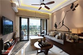 30万64㎡中式现代家装装修效果图