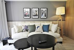 74平小户型客厅现代风格装饰图
