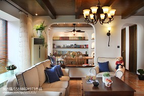 2021精选面积74平田园二居客厅欣赏