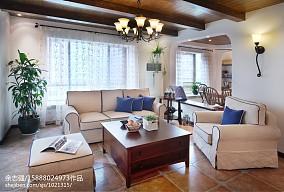 2021精选79平米二居客厅田园装修效