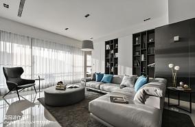 95平现代三居客厅装修实景图