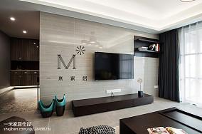 温馨87平现代三居装修装饰图