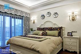 面积128平别墅卧室混搭装修实景图