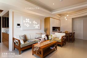 热门面积91平东南亚三居客厅装饰