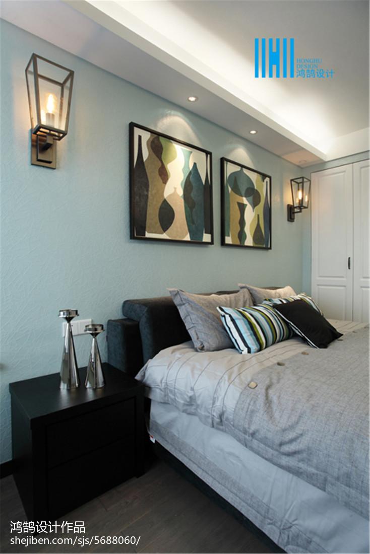 2020精选103平米三居卧室现代效果图片大全展示