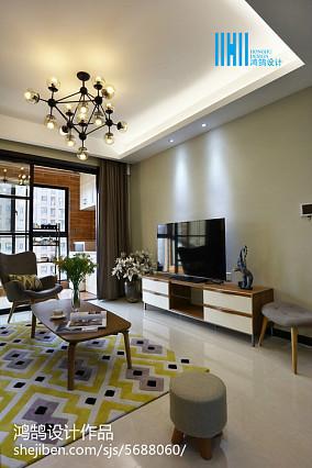 109平简约风格三居客厅效果图