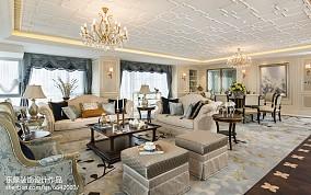 2021新古典风格别墅客厅效果图片