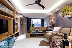 75平小户型客厅混搭装修实景图