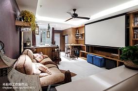 72平小户型客厅混搭装修图片
