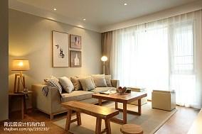 面积108平日式三居客厅装饰图