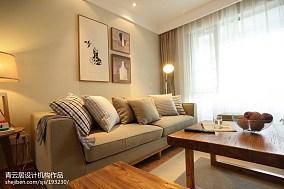 2021日式风格三居客厅装饰图