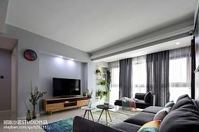 102平简约三居客厅装修效果图