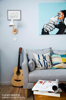 87平小户型客厅北欧装修效果图
