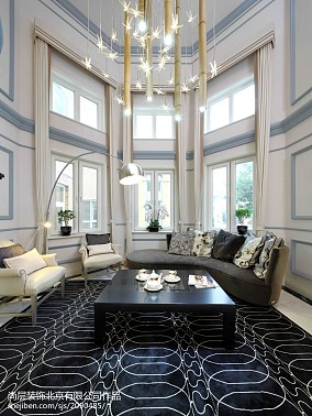 热门面积137平别墅客厅美式欣赏图